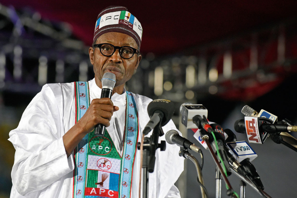 Muhammadu Buhari speaks during the presidential primary of the party in Lagos. Picture by Pius Utomi Ekpei | AFP via Getty Images