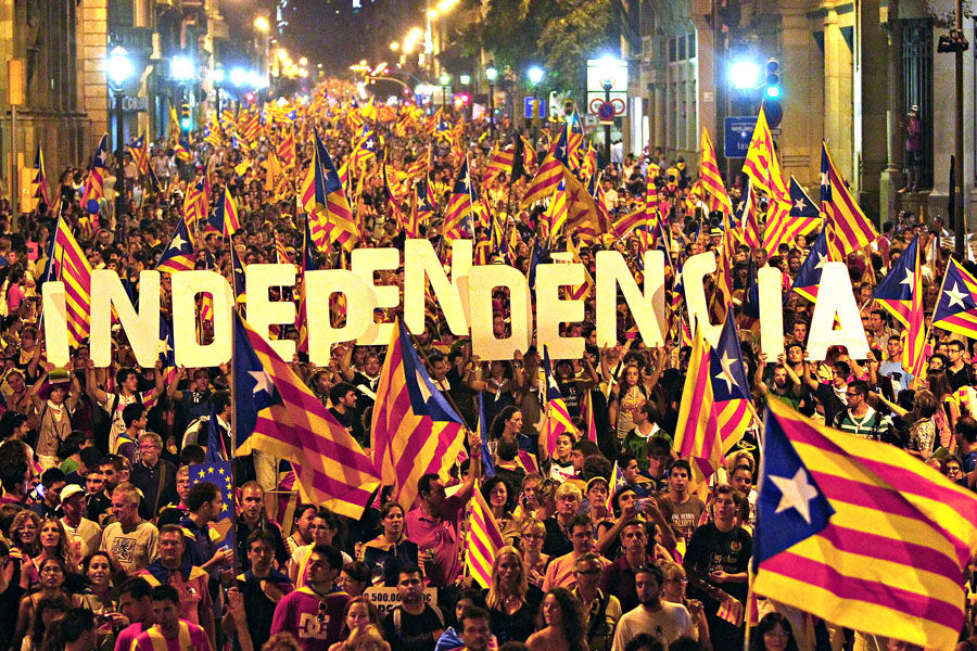March for independence in September 2012 in Barcelona. Picture by Pere Virgili | Diari Ara