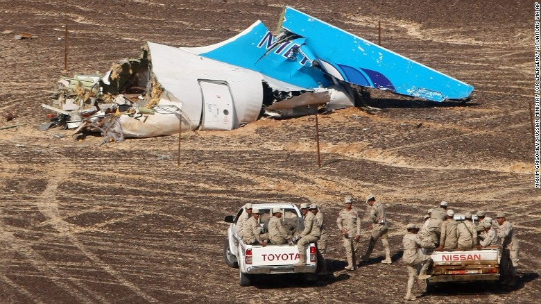 A handout picture taken on November 1, 2015 and released on November 3, 2015 by Russia's Emergency Ministry shows the wreckage of a A321 Russian airliner in Wadi al-Zolomat, a mountainous area of Egypt's Sinai Peninsula. Picture by Maxim Grigoryev|Russia's Emergency Ministry|AFP