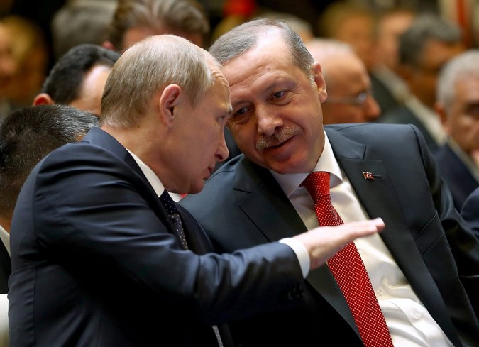 Presidents Vladimir V. Putin of Russia, left, and Recep Tayyip Erdogan of Turkey last year. Picture from Turkish Presidential Press Office | European Pressphoto Agency