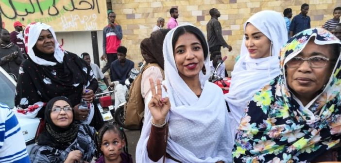 Bashir is gone, transitional military is in power. But only women can make change